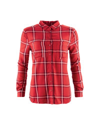 Ladies' Checked Plaid Shirt - Red