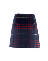 Ladies' Checked Skirt - Navy