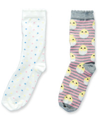 Ladies' Chick & Spots Socks 2-Pack