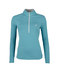 Ladies' Zip-Neck Top - Turquoise