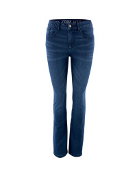 Ladies' Dark Blue Bootcut Jean