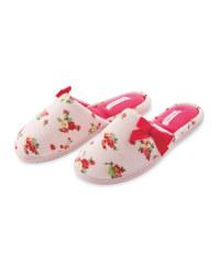 Ladies' Ditsy Floral Slippers
