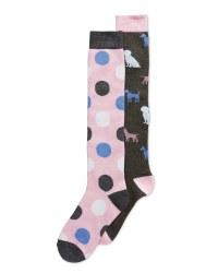 Ladies' Dogs Welly Socks 2-Pack