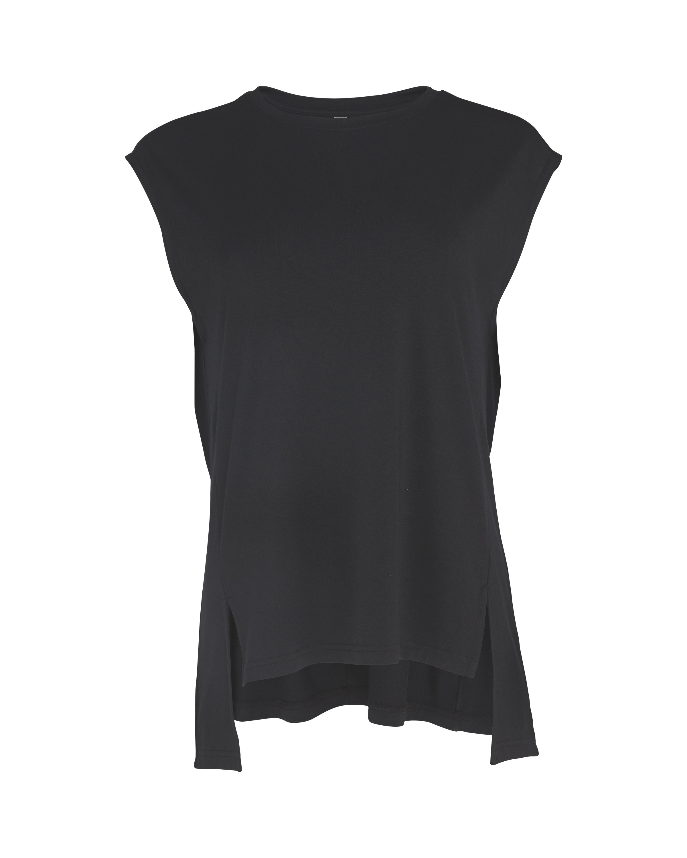 Ladies' Black Fitness Vest Top