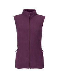 Ladies' Fleece Gilet - Plum