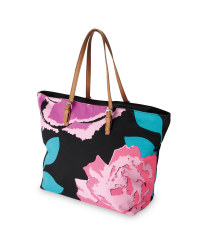 Ladies' Floral Canvas Travel Bag