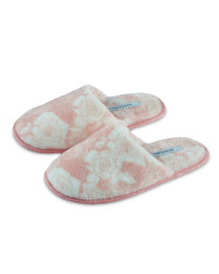 Ladies' Floral Supersoft Slipper - Pink