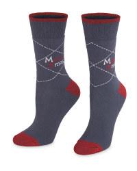 Grey Christmas Socks
