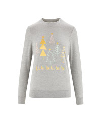 Ladies' Grey Christmas Sweatshirt
