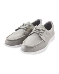 Ladies Grey Comfort Deck Shoes