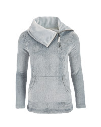 Ladies' Grey Cowl Neck Snuggle Top