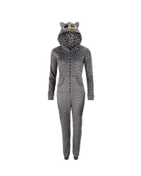 Ladies' Grey Spotted Owl Hood Onesie