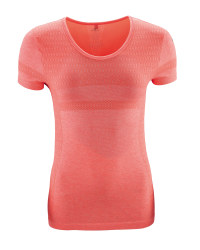 Ladies' Hi-Vis Coral Running T-Shirt