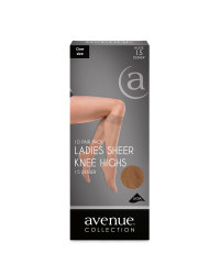 Ladies' Knee Highs 10 Pack - Nude