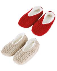 Ladies' Knitted Slipper Sock