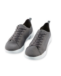 Avenue Ladies' Knitted Trainers - Charcoal