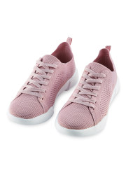 Avenue Ladies' Knitted Trainers - Pink