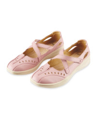 Avenue Ladies' Leather Shoes - Pink
