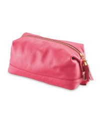 Avenue Ladies' Leather Washbag - Pink
