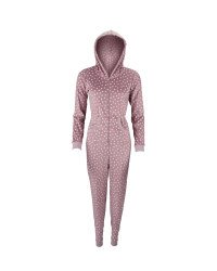 Ladies' Lilac Cream Spotted Onesie