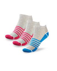 Ladies' Liner Sports Socks 4-7 - Grey