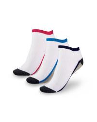 Ladies' Liner Sports Socks 4-7 - White & Charcoal
