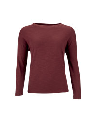 Ladies' Long Line Top - Burgundy