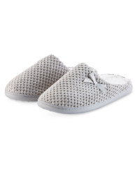 Ladies' Memory Foam Slippers - Grey