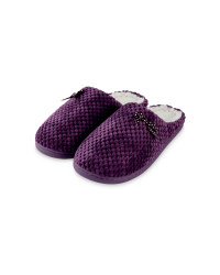 Ladies' Memory Foam Slippers - Lilac