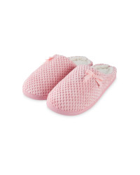 Ladies' Memory Foam Slippers - Pink