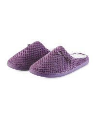 Ladies' Memory Foam Slippers - Purple
