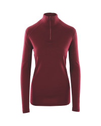 Crane Ladies' Merino Quarter Zip Top - Red
