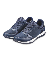 Ladies' Navy Comfort Lace Up Shoes