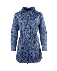Ladies' Navy Print Pac-a-Parka