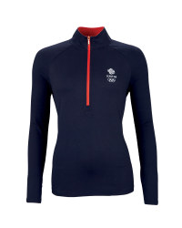 Ladies' Navy Team GB Zip Top