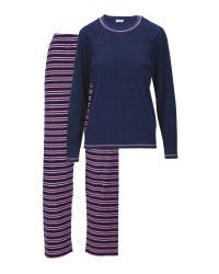 Ladies' Navy Terry Pyjamas