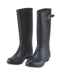 Ladies' Navy Wellingtons