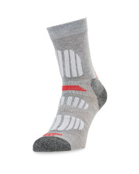 Crane Ladies' Outdoor Socks - Grey/Coral