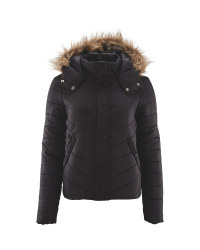 Ladies' Padded Jacket - Black