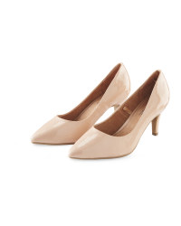 Ladies' Patent Court Shoes - Nude