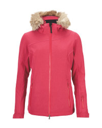 Ladies' Pink Hooded Ski Pro Jacket