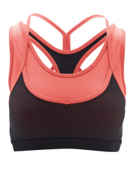 Ladies' Pink Strappy Sports Bra