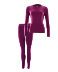 Ladies' Plum Thermal Base Layer