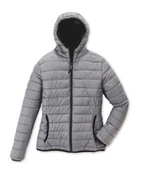 Ladies' Quilted Reversible Jacket - Grey