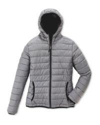 Ladies' Quilted Reversible Jacket - Grey
