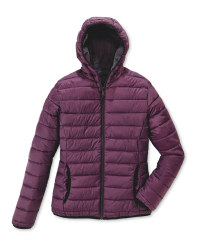 Ladies' Quilted Reversible Jacket - Plum