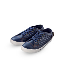 Ladies' Quilted Trainers - Navy