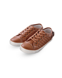 Ladies' Quilted Trainers - Tan