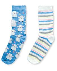 Ladies' Sheep Socks 2-Pack