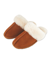Ladies' Sheepskin Slippers - Tan